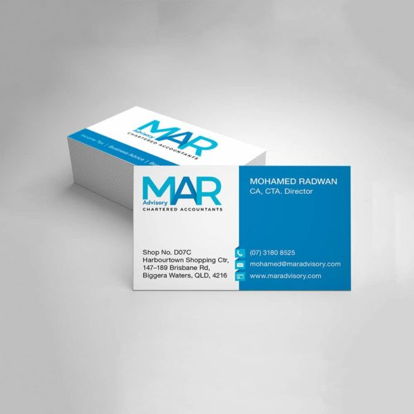Graphic design for Accountants business card