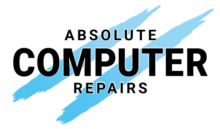 Computer repair business logo design