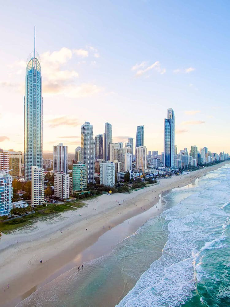 Aerial view of Gold Coast QLD Australia