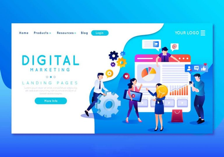 Digital marketing and landing pages image